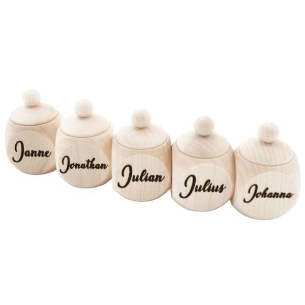 Milchzahndose mit Namen
