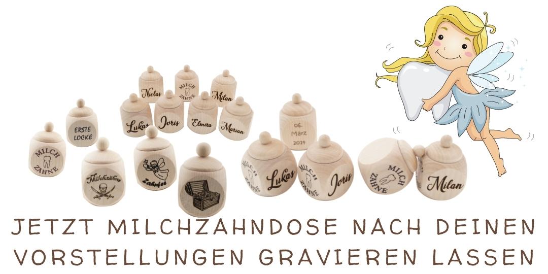 Milchzahndose mit Namen Onlineshop